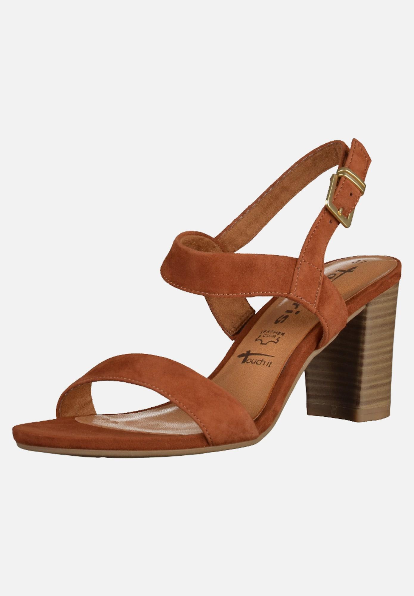 tamaris sandalen in braun about you. Black Bedroom Furniture Sets. Home Design Ideas