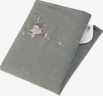 STERNTALER Schmusedecke 'Emmi Girl' in graumeliert / rosa / weiß, Produktansicht