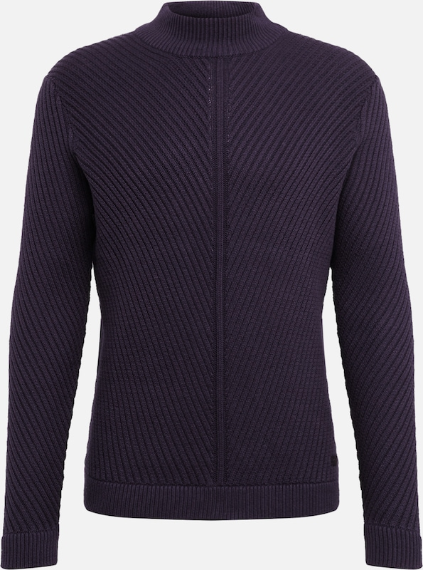Only & Sons Pullover 'ONSROLAND 7 STRUCTURE HIGH NECK KNIT' in navy, Produktansicht