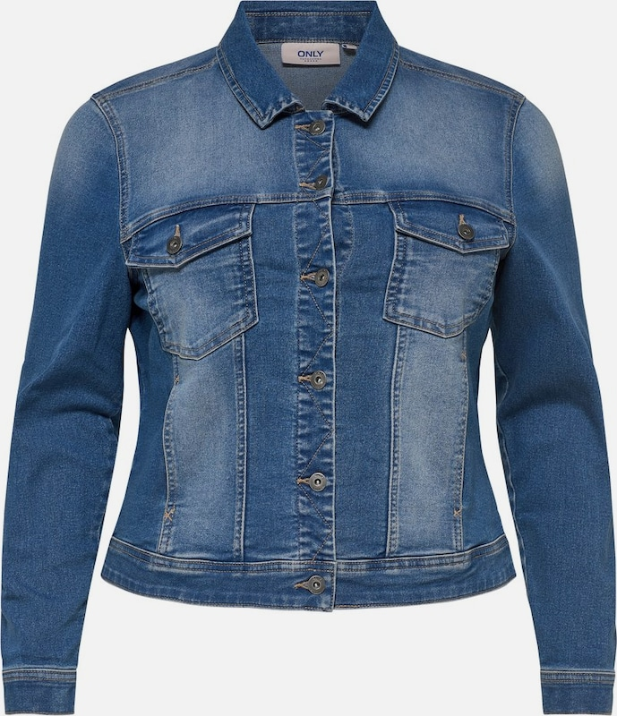 ONLY Carmakoma Jacke 'Wespa' in blue denim, Produktansicht