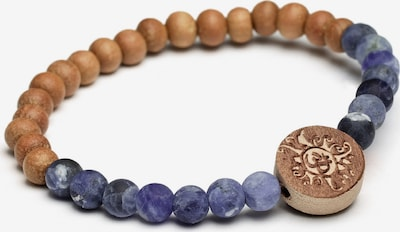 YOGISTAR.COM Armband 'Handala' in braun / violettblau, Produktansicht