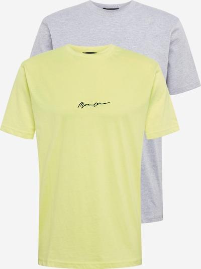 Mennace Majica 'ESSENTIAL SIGNATURE' | neonsko rumena / siva barva, Prikaz izdelka
