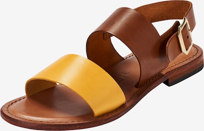 Crickit Sandale 'Sofia' in cognac / gelb, Produktansicht