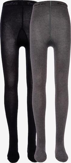 EWERS Strumpfhose 'Uni' in grau / schwarz, Produktansicht
