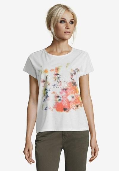 Cartoon Shirt in mischfarben / weiß: Frontalansicht