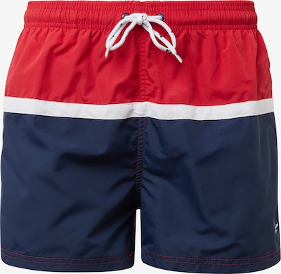 TOM TAILOR Zwemshorts in de kleur Navy / Vuurrood / Wit, Productweergave