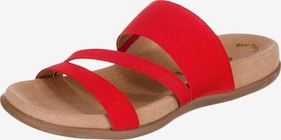 GABOR Pantolette in hellbraun / rot, Produktansicht