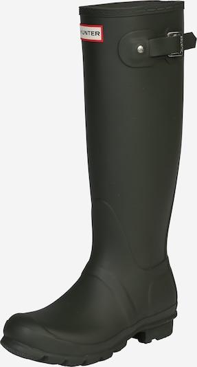 HUNTER Bottes en caoutchouc en vert foncé, Vue avec produit