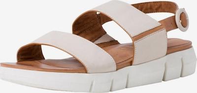 TAMARIS Sandale in cognac / naturweiß, Produktansicht