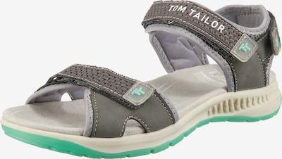 TOM TAILOR Sandale za hodanje u bež / kameno siva / menta, Pregled proizvoda