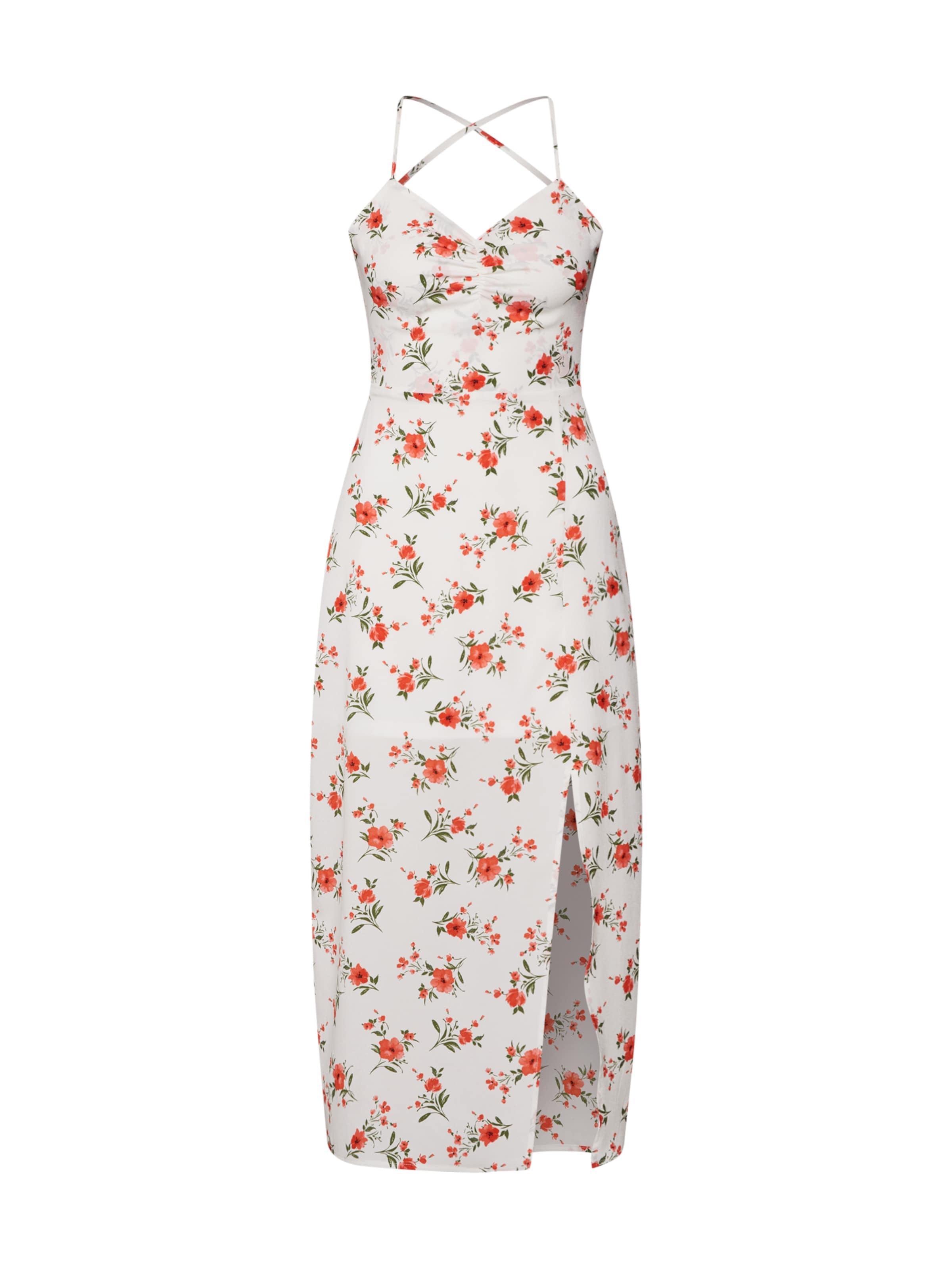 Weiß In Kleid Fashion Union 'peggy' Rosa GrünPink Rot TFK1cJl3