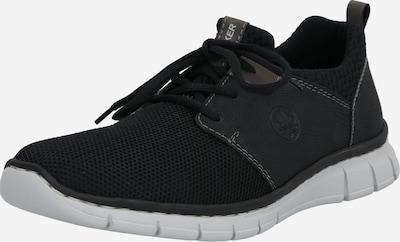 Sneaker low RIEKER pe negru: Privire frontală