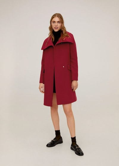MANGO Mantel 'Jane' in rot, Modelansicht