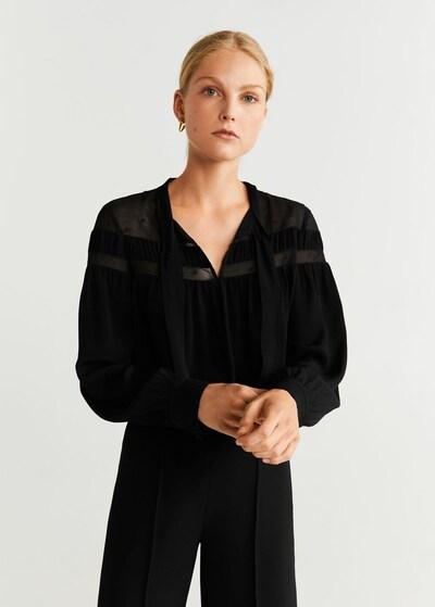 MANGO Bluse 'Brera' in schwarz, Modelansicht