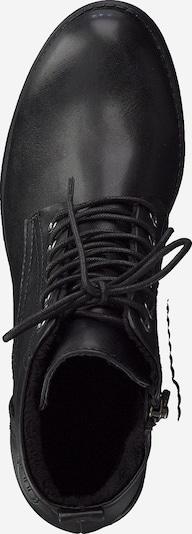 MARCO TOZZI Bottines à lacets en noir: Vue de dessus