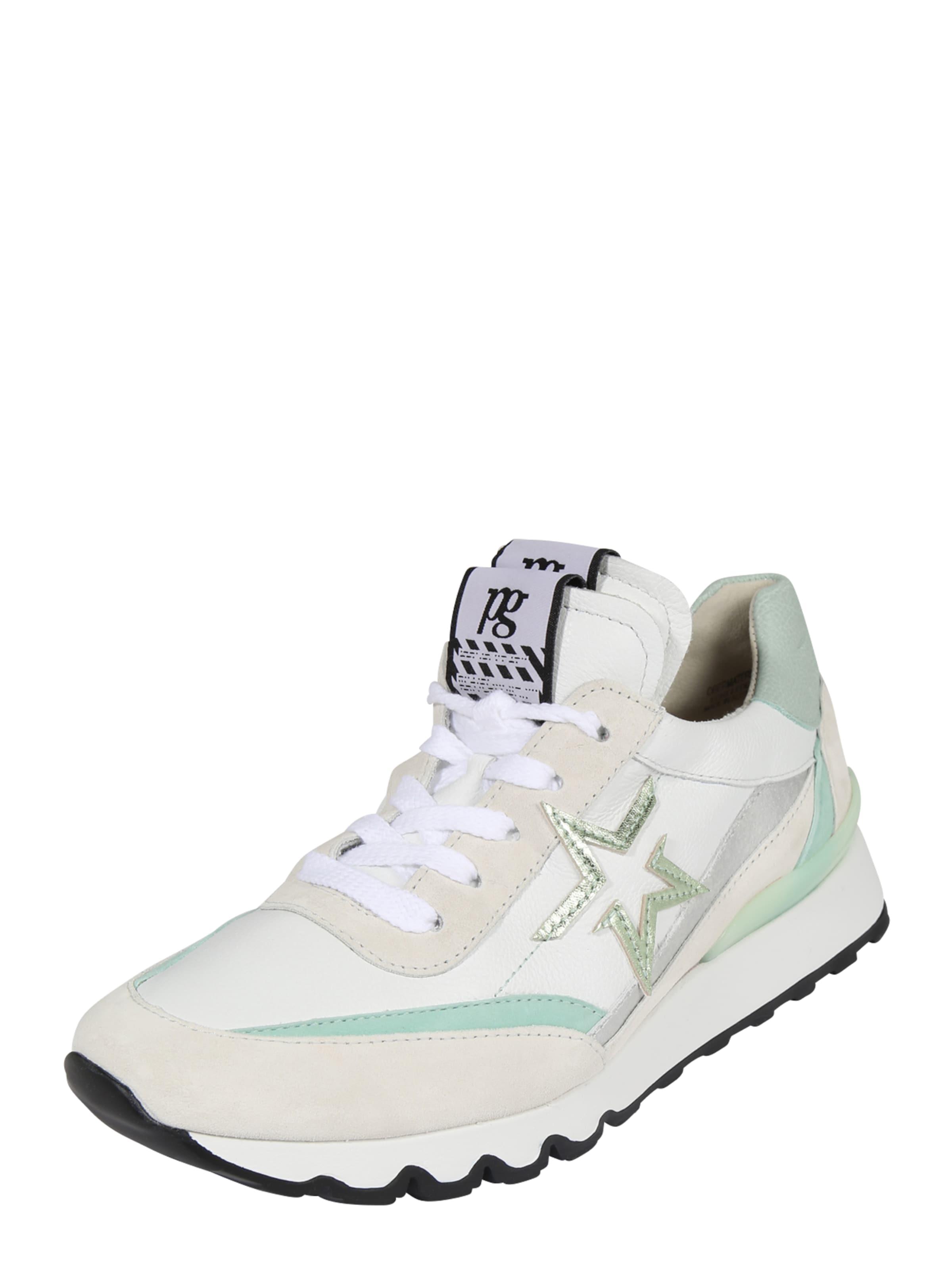 Paul Green Sneaker in beige / creme / gold / mint