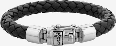 KUZZOI Armband 'Basic' in schwarz / silber, Produktansicht