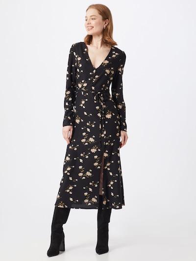 Missguided Kleid 'BUTTON' in schwarz / weiß, Modelansicht