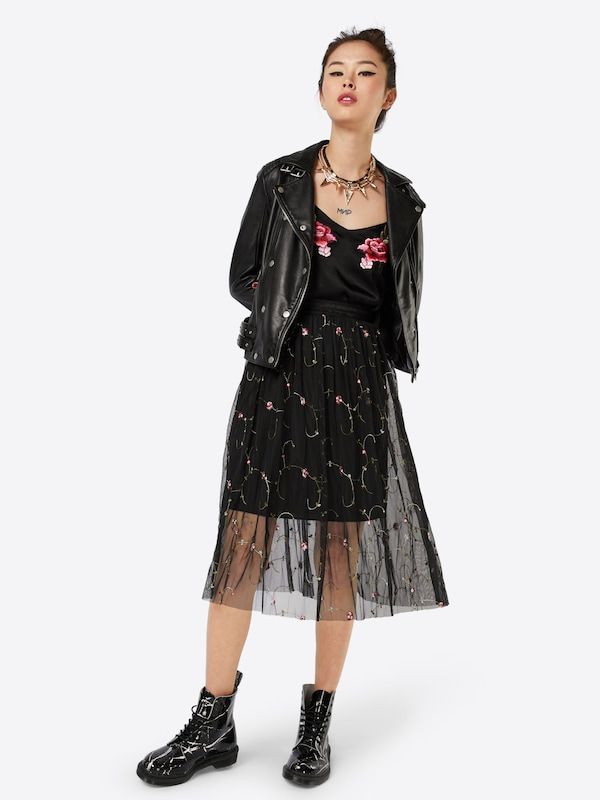 New Look Go Embr Floral Tulle Prom Rock