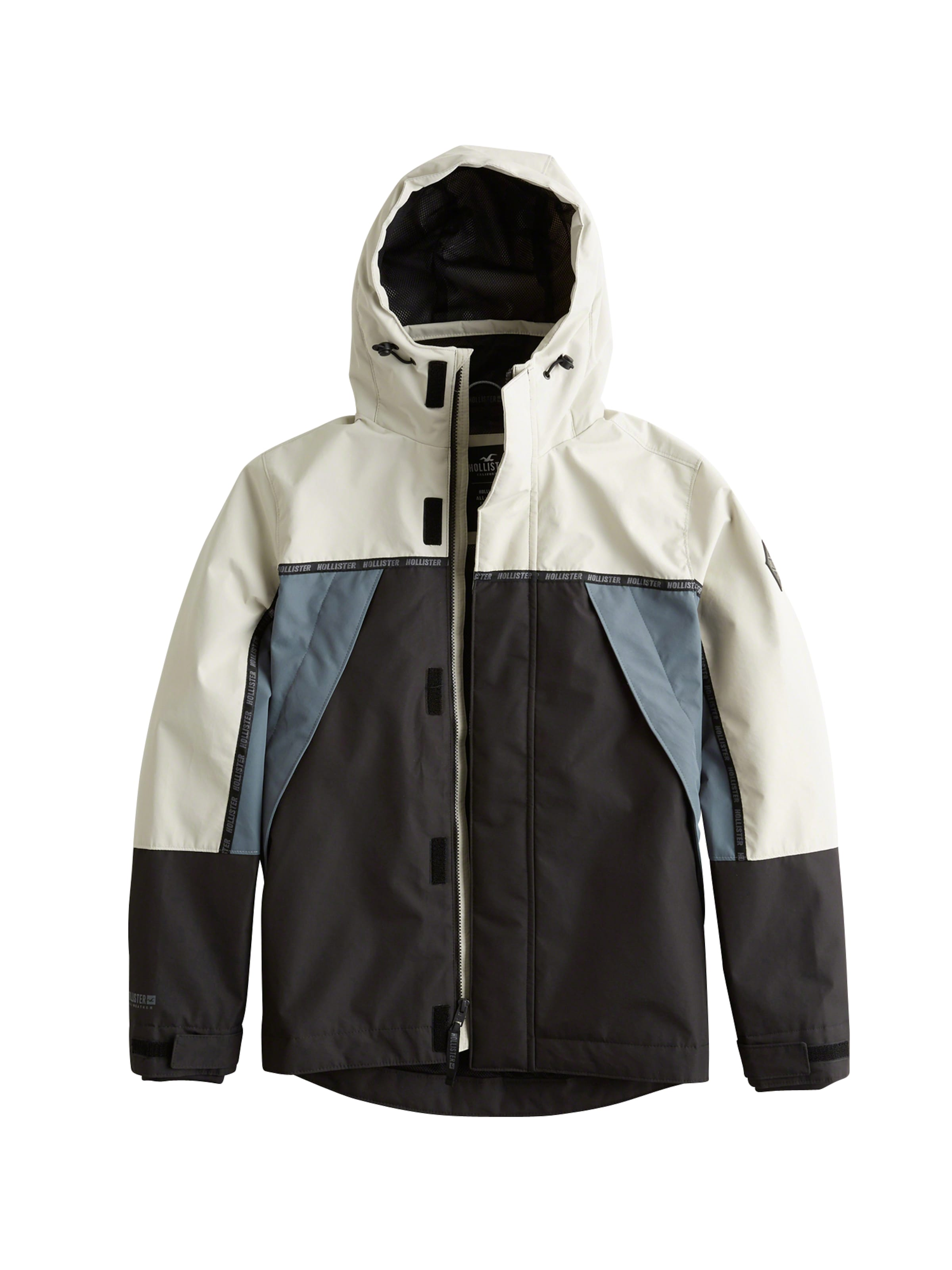 Jacke In Jacket' Hollister 'aw CremeBlau Schwarz Shell 8mnwNOyv0