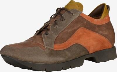 THINK! Schnürschuh in karamell / grau / orange, Produktansicht