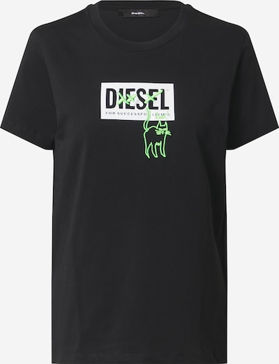 DIESEL T-shirt en noir / blanc, Vue avec produit