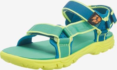 JACK WOLFSKIN Sandale 'Seven Seas' in blau / gelb / mint, Produktansicht