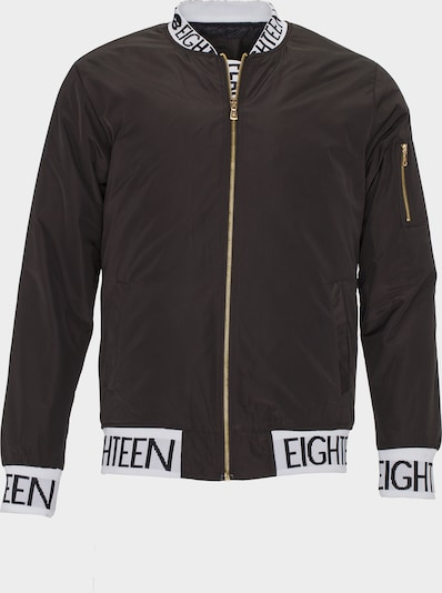 PLUS EIGHTEEN PLUS EIGHTEEN Blouson mit Logoprint-Details in khaki / oliv, Produktansicht