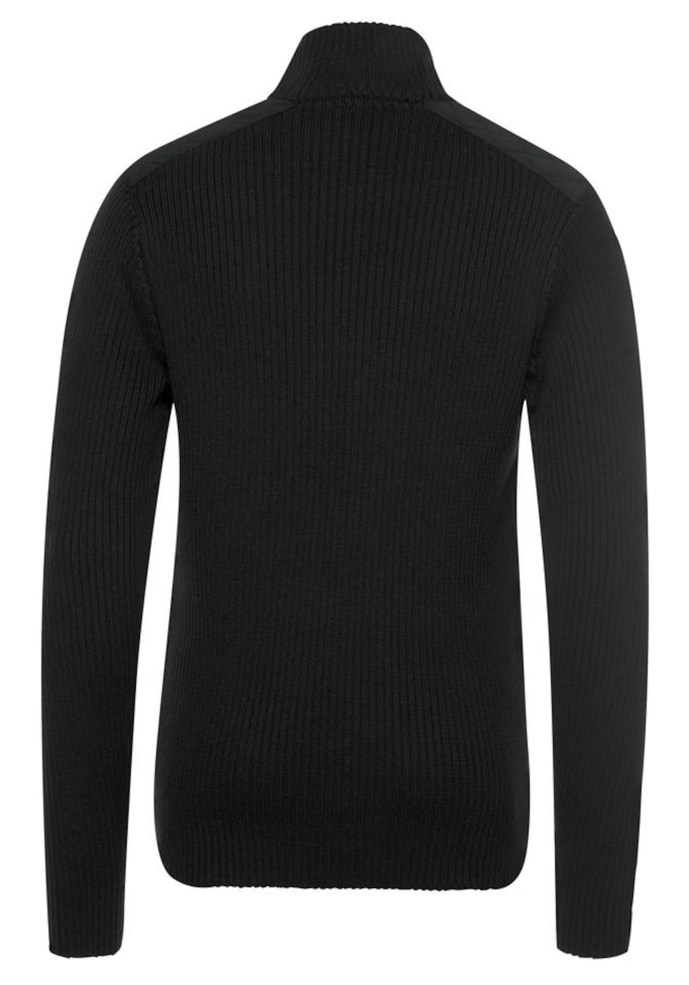 ARIZONA Pullover in schwarz Troyer 1000325593