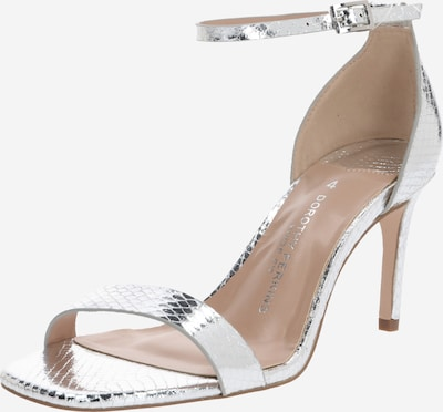 "Dorothy Perkins Sandale 'WIDE FIT SILVER ""SODA"" SQUARE TOE SANDAL' in silber, Produktansicht"