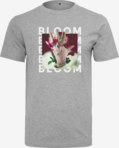 Mister Tee T-Shirt 'MGK Bloom' in graumeliert / mischfarben: Frontalansicht