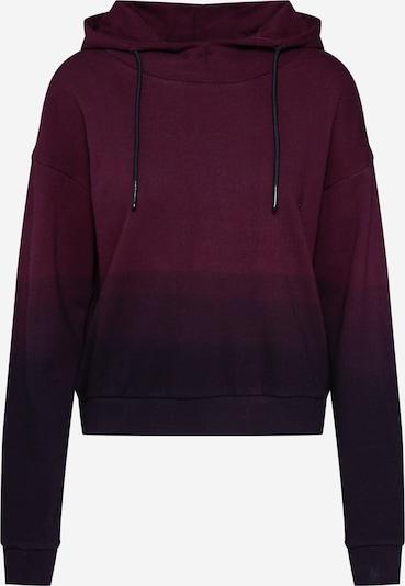 Urban Classics Hoodie 'Dip Dye' in dunkelrot / schwarz, Produktansicht