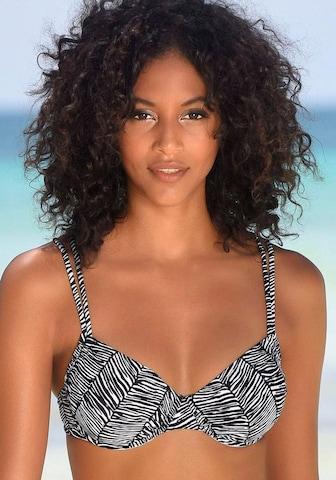 VENICE BEACH Bikinitopp 'Sugar' i svart