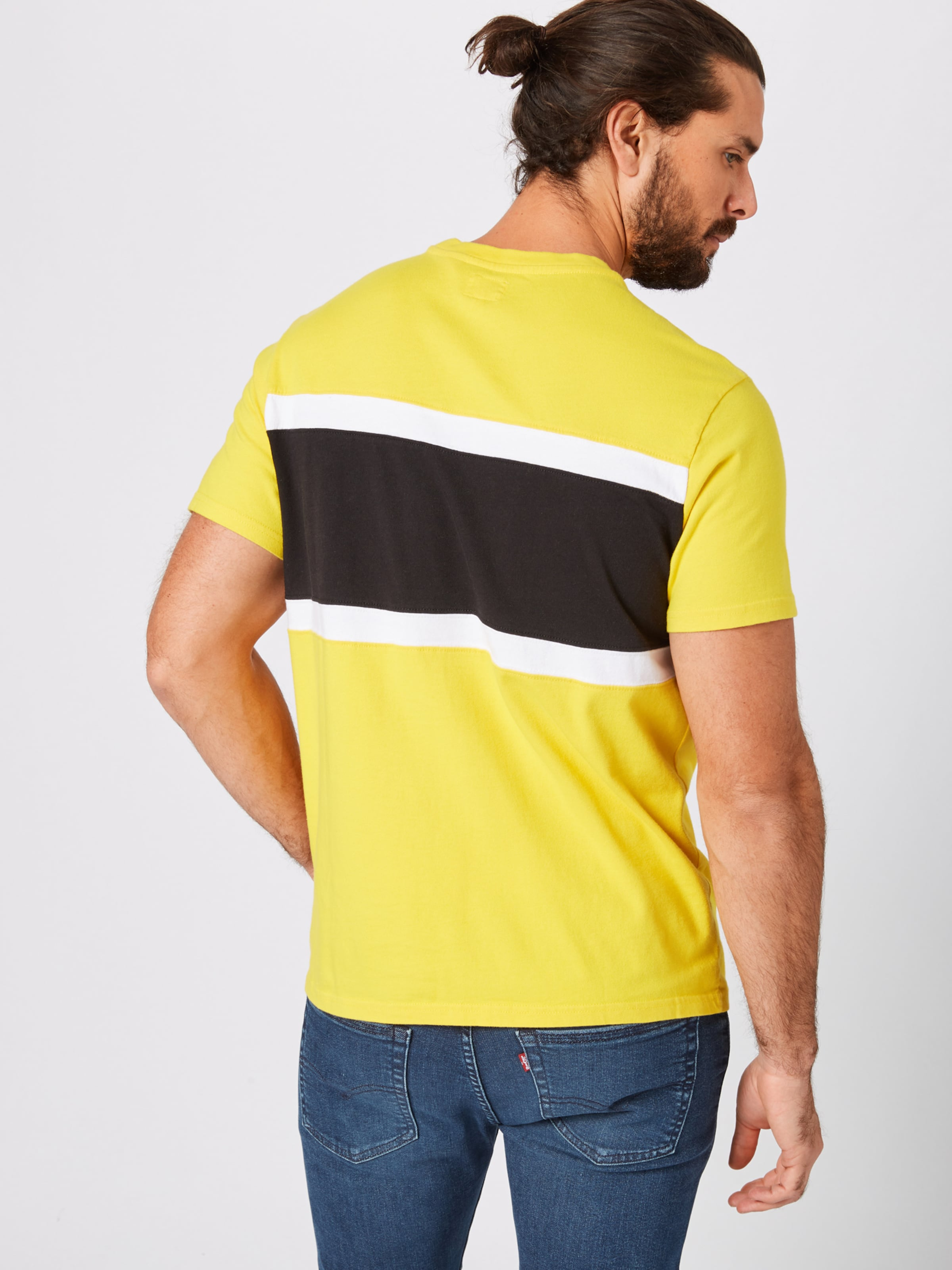 Shirt Levi's In Levi's In GelbSchwarz 'colorblocktee' Shirt 'colorblocktee' n0wNyO8vm
