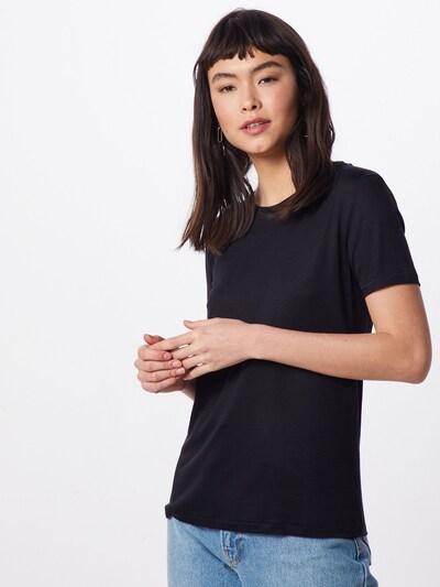 BRUUNS BAZAAR Koszulka 'Katka' w kolorze czarnym: Widok z przodu
