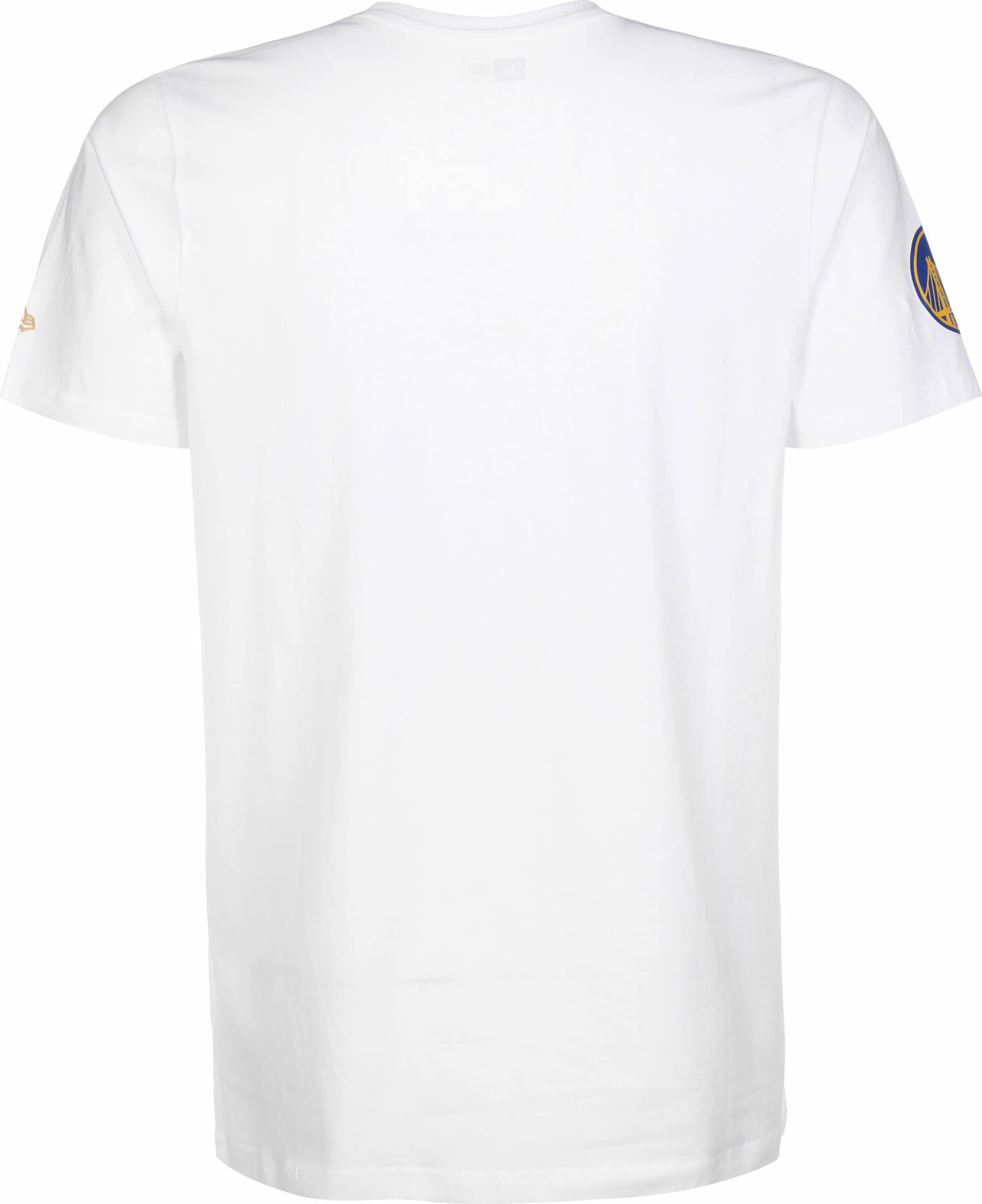 NEW ERA T-Shirt 'NBA Gradient Wordmark Golden State Warriors' in mischfarben / weiß Baumwolle KT75542012