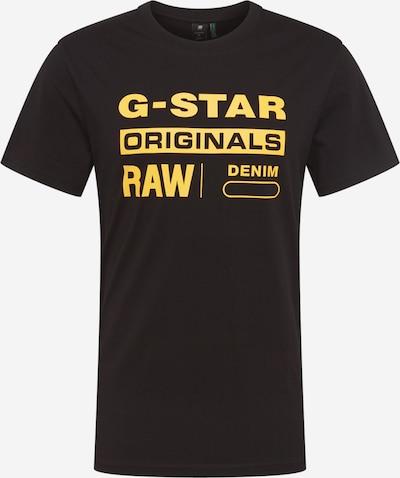 G-Star RAW Shirt 'Graphic 8' in de kleur Geel / Zwart, Productweergave
