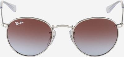 Ray-Ban Sonnenbrille mit filigranem Gestell in weinrot / silber, Produktansicht