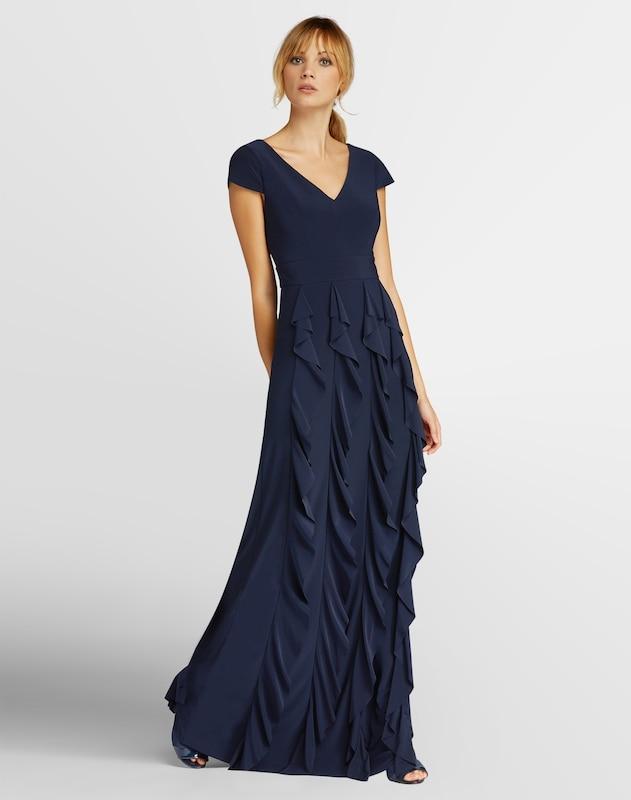 APART Abendkleid mit V- Ausschnitt vorne und hinten