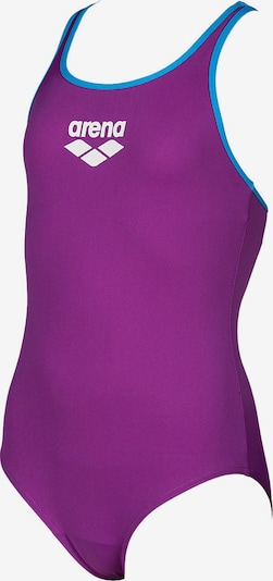 ARENA Badeanzug in blau / lila / weiß: Frontalansicht