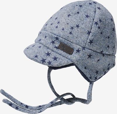 STERNTALER Mütze in hellblau / dunkelblau: Frontalansicht