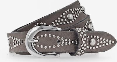 b.belt Handmade in Germany Nietengürtel in taupe / silber, Produktansicht
