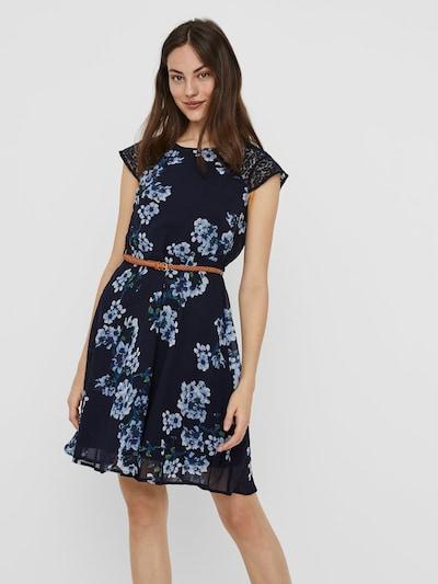 VERO MODA Kleid in blau / navy / hellblau / grün, Modelansicht