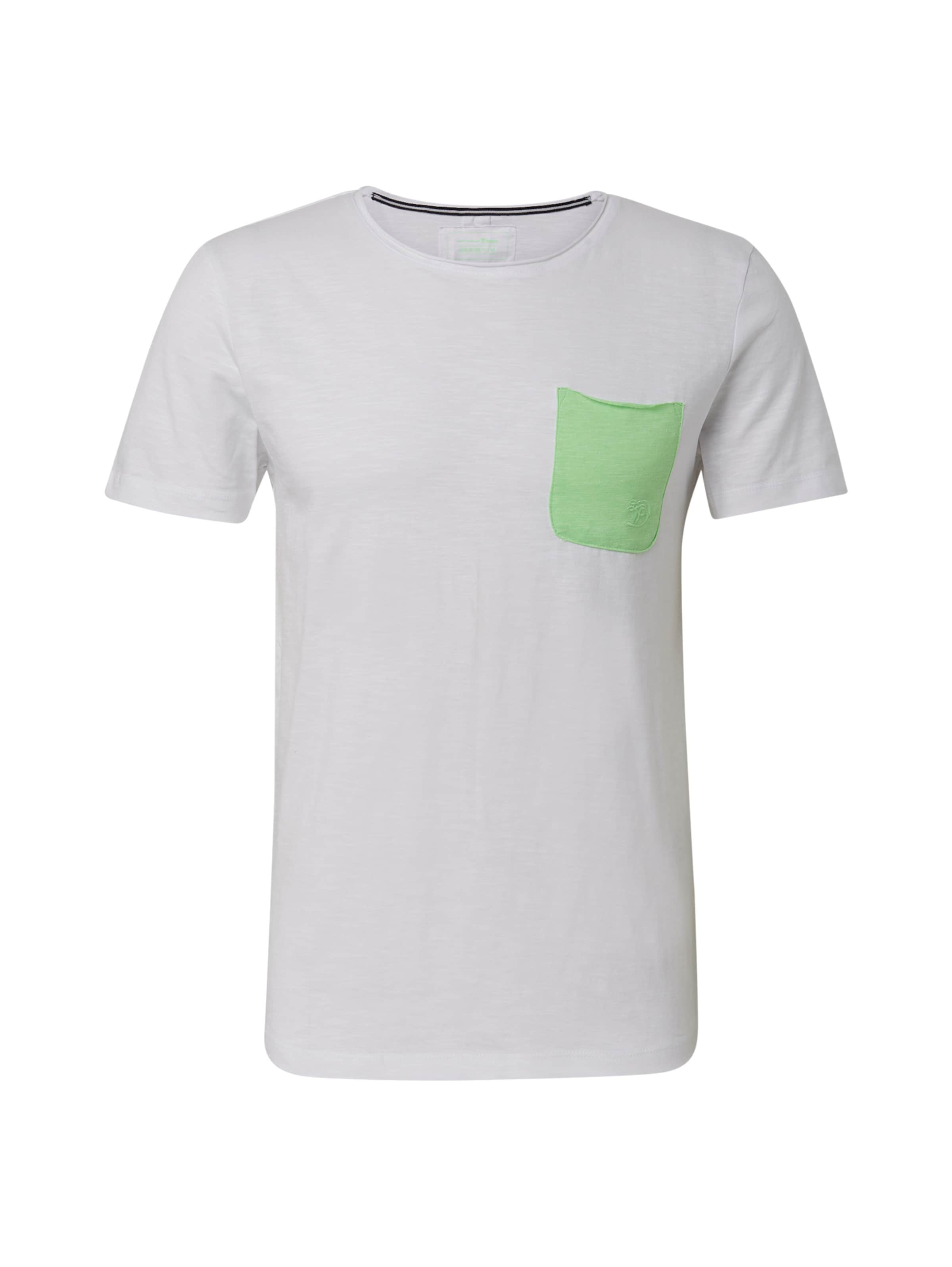 T GrünWeiß Denim In Tom Tailor shirt JuTFc3lK1