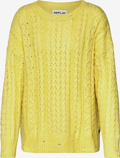 REPLAY Pullover in gelb, Produktansicht