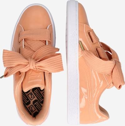 PUMA Sneaker 'Basket Heart' in koralle / weiß: Seitenansicht