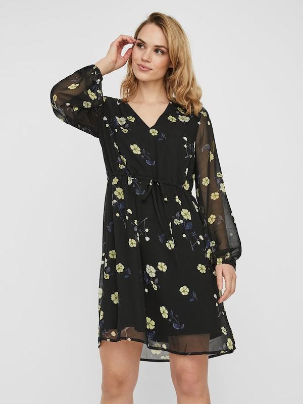 VERO MODA Kleid in gelb / schwarz   ABOUT YOU