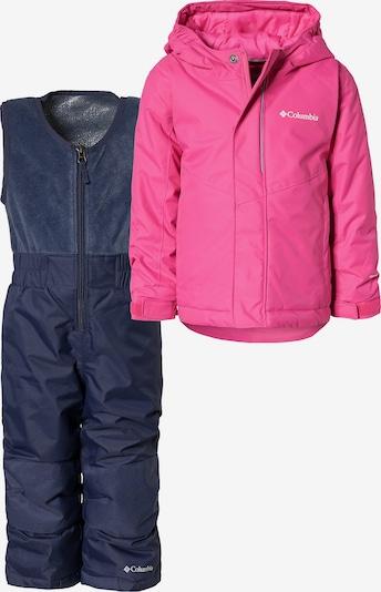 COLUMBIA Schneeanzug 'Buga' in nachtblau / pink: Frontalansicht