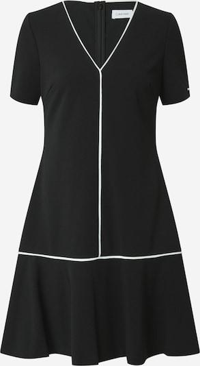 Calvin Klein Šaty - černá / bílá: Pohled zepředu
