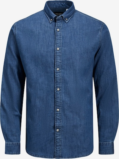 JACK & JONES LEON STRETCH DENIM SHIRT L/S Jeanshemd in blau, Produktansicht